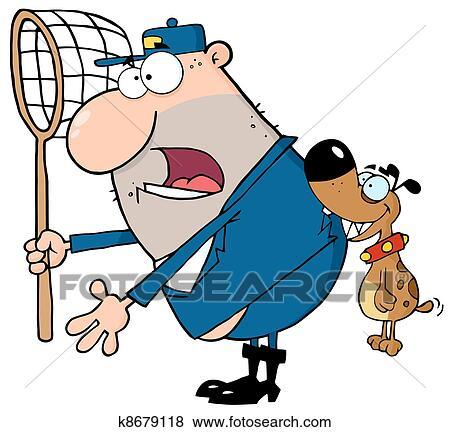 الكلب ذع أداة تعريف إنجليزية غير معروفة الكلب الصياد Clip Art K8679118 Fotosearch