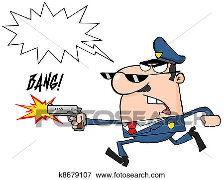 Gendarme dessin anim caract re clipart k8679107 - Gendarme dessin ...