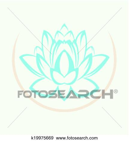 Clip art of lotus flower symbol k19975669 search clipart lotus flower symbol mightylinksfo