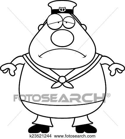clipart of sad cartoon sailor k23521244 search clip art rh fotosearch com sailor clipart gifs sailor clipart gifs