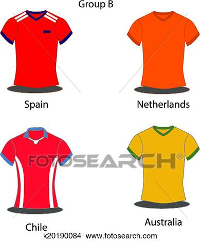 79fb0350aef Clipart - Soccer   Football team players.. Fotosearch