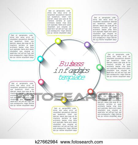 clipart of vector circle process infographics template colorful