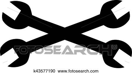 Wrenches Crossed Clipart K43577190 Fotosearch