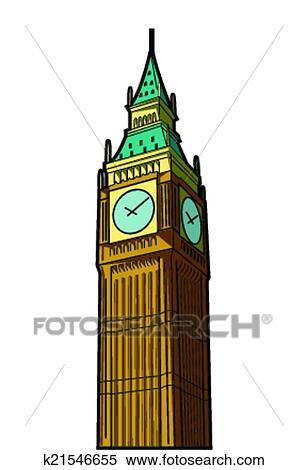 clipart of big ben k21546655 search clip art illustration murals rh fotosearch com big ben clip art black and white big ben clipart