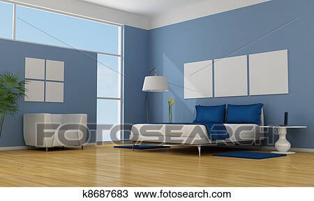 Blue bedroom Drawing