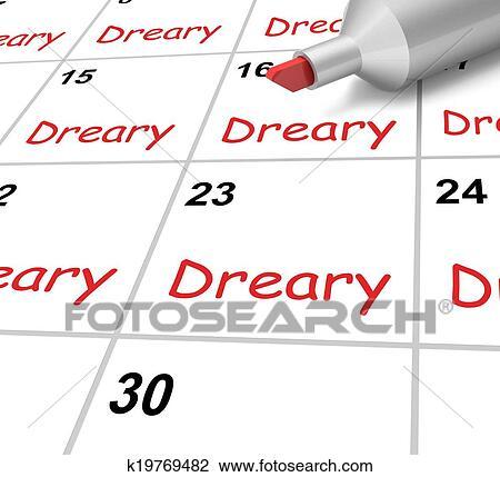 Calendario Significato.Cupo Calendario Mezzi Tenebroso Monotono E Non Interessante Disegno