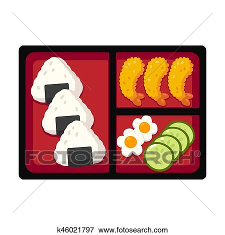 Clip Art Of Japanese Bento Box K46021797