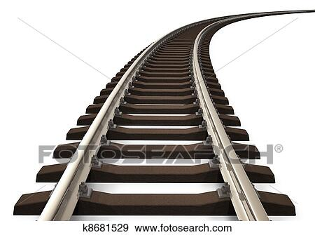 Railroad track Illustrations and Clip Art. 1,905 railroad track ...