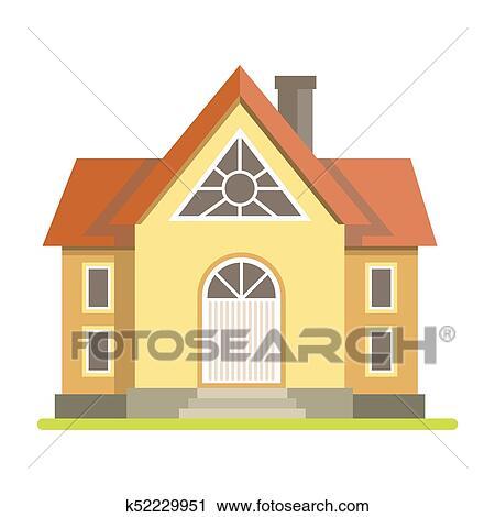 Clipart  Mignon Petite Maison Maison Brique K