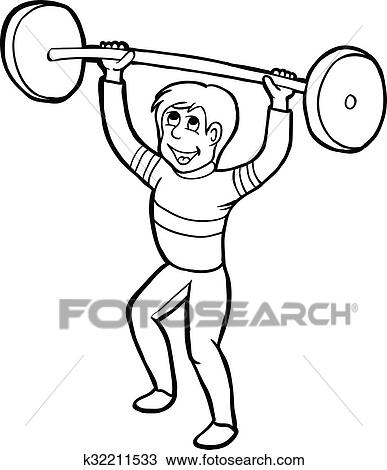 Clipart Of Training Man K32211533