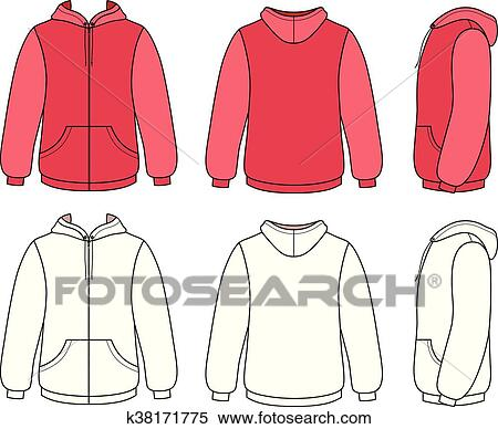 Clipart Of Unisex Hoodie Template K38171775
