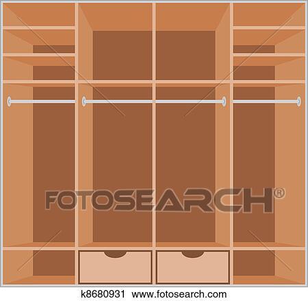 Clipart Of Wardrobe Room Furniture K8680931 Search Clip Art