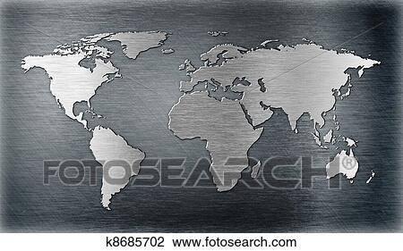 Clip art of world map relief or shape on metal plate k8685702 clip art world map relief or shape on metal plate fotosearch search clipart gumiabroncs Choice Image