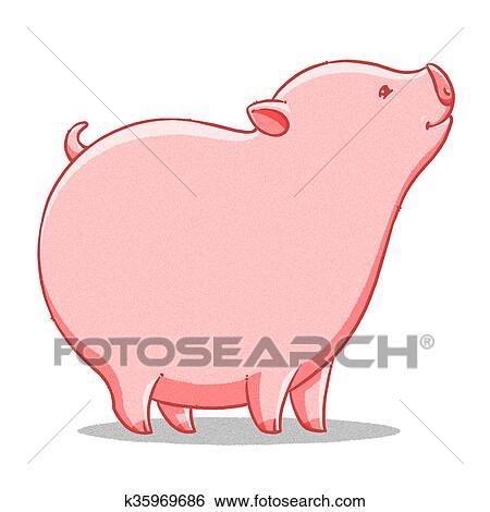 面白い 漫画 かわいい 脂肪 豚 イラスト イラスト K35969686