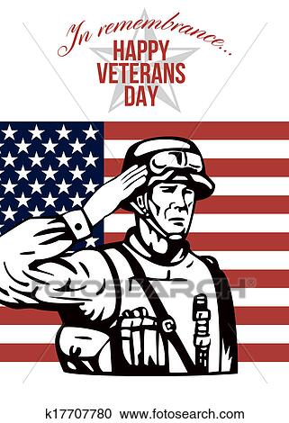 Stock illustrations of american veterans day greeting card k17707780 stock illustration american veterans day greeting card fotosearch search clipart illustration posters m4hsunfo
