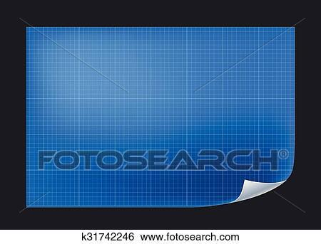 Clip art of blueprint architechture paper with vector line grid blueprint architechture paper with vector line grid malvernweather Gallery
