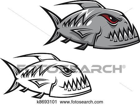 clipart of danger piranha k8693101 search clip art illustration rh fotosearch com piranha clipart free piranha clipart