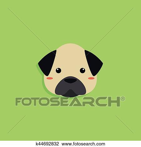 Dog Cartoon Face Clipart K44692832 Fotosearch