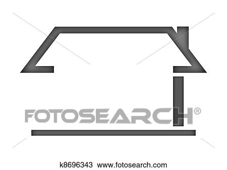 Dessin  Les Silhouette De A Maison  Logo K