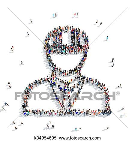 Stock Illustration Of People Shape Civil Engineer K34954695 Search