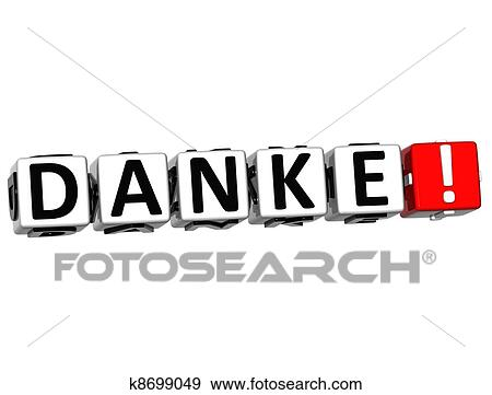 stock illustration of the word danke thank you in many different