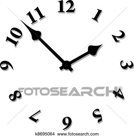 clipart of vector clock face k8695064 search clip art rh fotosearch com clock face clip art with blanks clock face clip art drawing