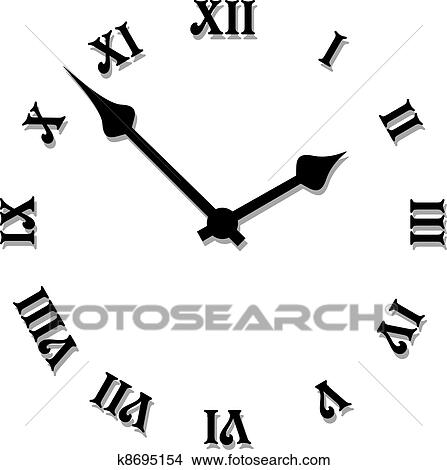 clipart of vector clock face k8695154 search clip art rh fotosearch com clock face clip art or printable clock face clip art free for teachers