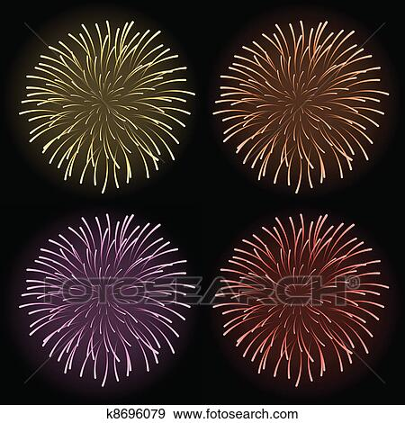 clip art vector fireworks fotosearch search clipart illustration posters drawings