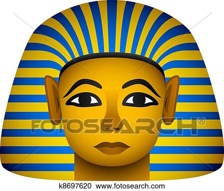 clipart of vector golden mask of the egyptian pharaoh k8697620 rh fotosearch com pharaoh clipart black and white pharaoh head clipart
