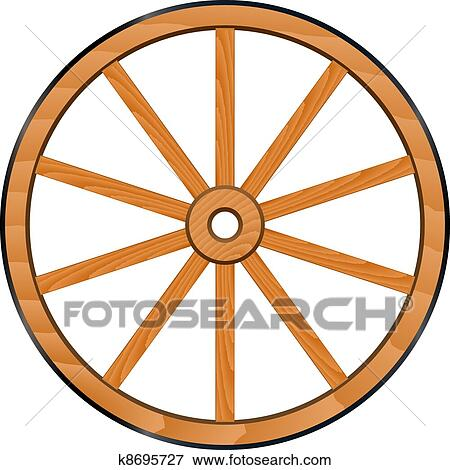 clip art of vector old wooden wheel k8695727 search clipart rh fotosearch com wheel clipart images wheel clipart transparent