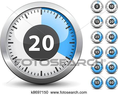 clipart of vector timer easy change time every one minute k8697150