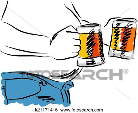 clip art of belly beer man drinking beer illust k21171416 search rh fotosearch com drinking clip art images clipart drinking water