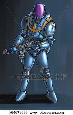 20+ Sci Fi Soldier Concept Art  Images