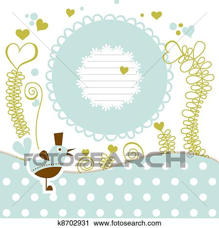 Clipart Of Cute Baby Shower K8702931 Search Clip Art Illustration