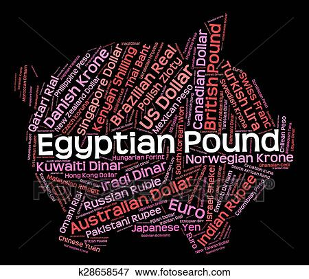 Stock Ilration Egyptian Pound Indicates Currency Exchange And Currencies Fotosearch Search Eps Clipart