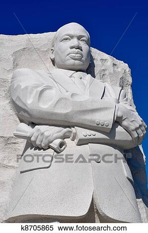 Stock Image Of Martin Luther King Statue In Washington Dc K8705865