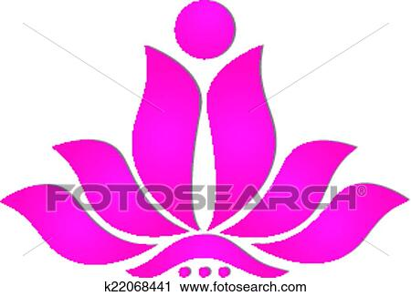 Clipart of pink stylized lotus flower icon logo design k22068441 clipart pink stylized lotus flower icon logo design fotosearch search clip art mightylinksfo