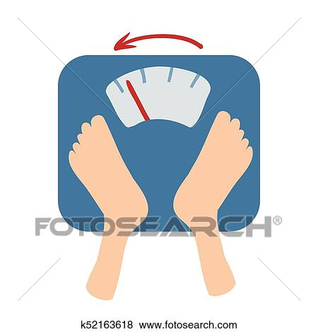Scales Detect Weight Loss By Number And An Arrow Scales And Feet Isolated Flat Illustration On A White Backgroud Cartoon Vector Image Clip Art K52163618 Fotosearch