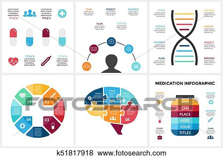 Clip Art Of Vector Medicine Infographic Template For Human Brain