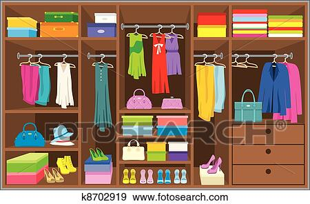 Clip Art Of Wardrobe Room Furniture K8702919 Search Clipart