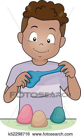 أمزح خادم مد طفل Clip Art K52298716 Fotosearch