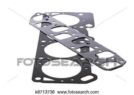 Stock Images Of Cylinder Head Gasket Car Engine Isolated K8713736