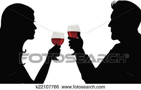 Clipart d ner romantique k22107766 recherchez des cliparts des illustrations des dessins - Photo romantique noir et blanc ...