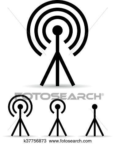 Internet Signal Antenna Icon Clipart