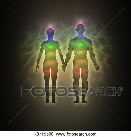 Menselijk Aura Paar Clipart