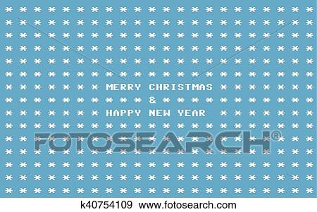 Carte De Noel Informatique.Bleu Ascii Art Retro Informatique Noël Carte Clipart