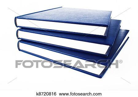 Les Livre Bleu Ouvert Sur Les Blanc Banque De Photographies
