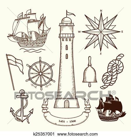 clipart medieval marítimo mapas k25357001 busca de ilustrações