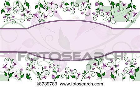 花 ラベル デザイン イラスト K8739789 Fotosearch