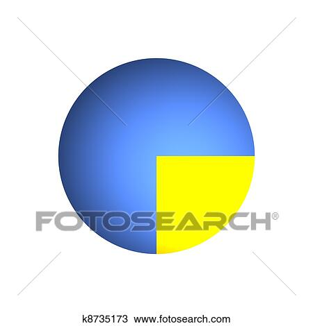 drawing of 25 business pie chart k8735173 search clipart